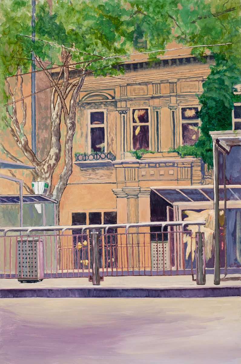 Top of Collins St., Melbourne Oil on linen 30 x 45.5 cm