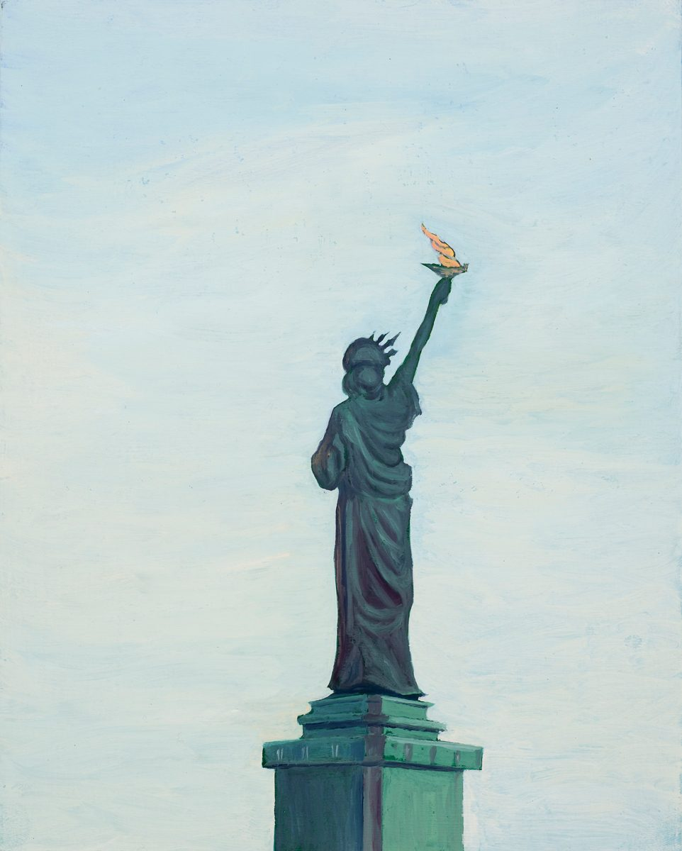 The Statue of Liberty, New York Oil on board 20 x 25 cm