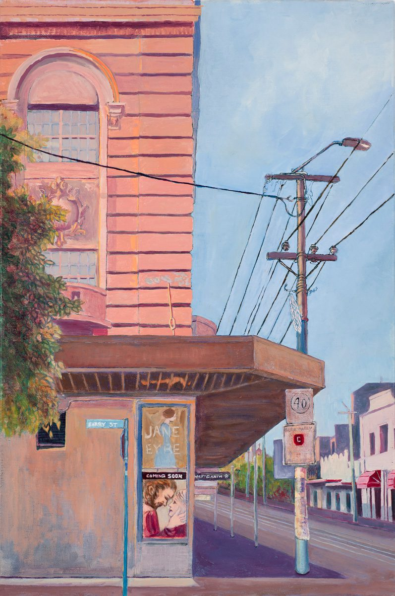 Westgarth Melbourne Oil on linen 30 x 45.5 cm